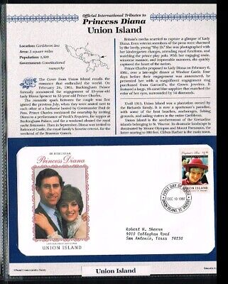 [PB07_36] 1997 - Union Island FDC - Famous People - Royalty - Tribute to Princes