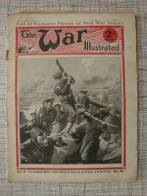 The War Illustrated, Great War #34 (Dardanelles, Barbed Wire, Trenches WW1, RFC)