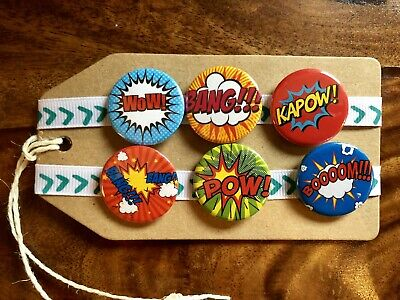 Comic Book - Pin Badge Set / Magnet Set