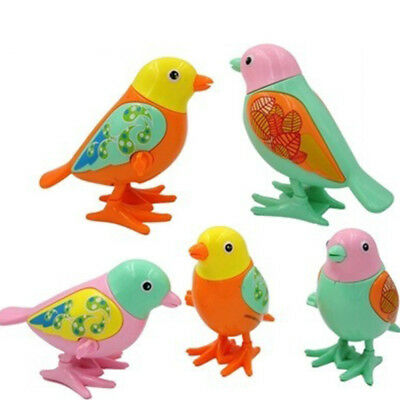 Jumping Bird Clockwork Wind Up Cute Toy Kids Early Educational Toy Color Random