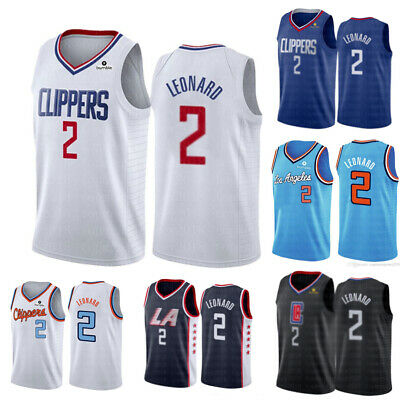 Kawhi Leonard 2 Men's Los Angeles Clippers NBA Basketball Jersey Embroidered