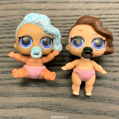 2x LOL Surprise Dolls Series 2 Lil Little Sisters surfer babe & splash queen