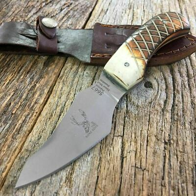 "6"" Bone Handle Fixed Blade Hunting Bowie Skinner Knife Fishing camping c"