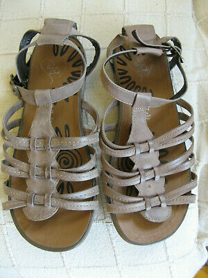 Evans 'Finish The Look' 100% Leather Brown Gladiator Sandals - Wide Fit