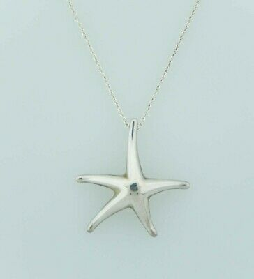 Tiffany & Co. Sterling Silver Starfish Necklace 925