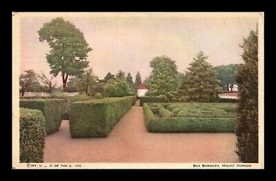 Dr Jim Stamps Us Box Borders Mount Vernon Mansion Virginia Postcard