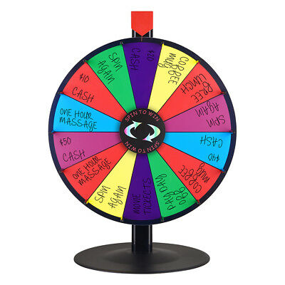 """18"""" Prize Wheel Tabletop Colour Dry Erase Stand Fortune Spinning Game Fortune UK"""