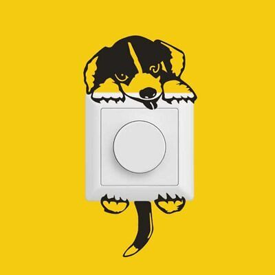 Dog Puppy Beagle Mural Light Switch Wall Stickers For Kids Room