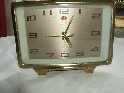 Five Rams Chinese  vintage alarm clock 1950s or 1960s working condition.
