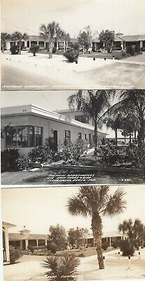 Lot 2167: Three Rppc Early Clearwater Florida Fl Postcard