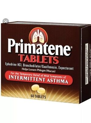 Asthma Relief (60 Ct.) Primaten Tablets Sealed