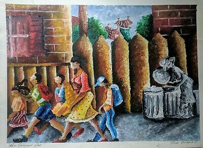 Collectible African American Art  by Tosh Fomby Acrylic original on paper