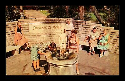 Dr Jim Stamps Us Fountain Of Youth St Petersburg Florida Chrome View Postcard