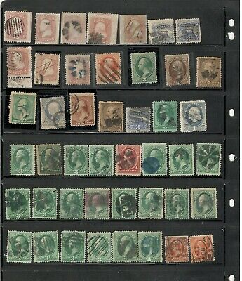 Fancy Cancel Time:  1800'S Collection, Many Interesting Cancellations