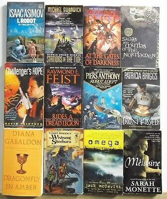 Huge Lot of 12 Science Fiction Fantasy Novels FREE US S/H Read List Lot #A837