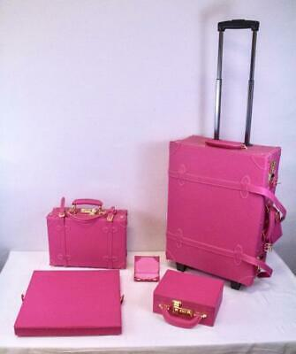 Chatterbox Luggage Trunk Set for Scrapbooking or Storage - 5 Piece Set, Pink