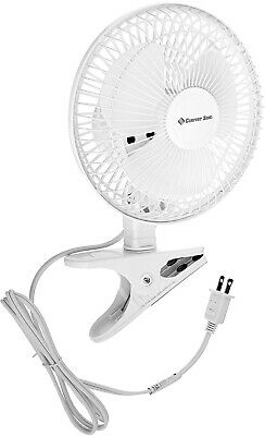 Small Clip On Fan Personal 2 Speed Portable Home Office Table Desk Tilt White