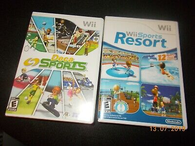 Lot of 2 Nintendo Wii games Wii Sports Resort Game & Deca Sports Complete