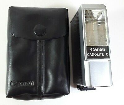 Canon CANOLITE D On-Camera Flash w/Case - For QL17 GIII - USA Seller