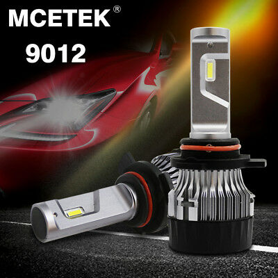 LED 9012 Car Headlight Bulb Kit 72W 9000LM Fog Lamp 6000K White Hi/Lo Conversion