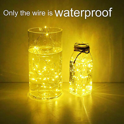 10/20/30 LED CR2032 Battery Micro Rice Wire Silver Fairy String Lights Party