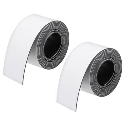 2 Pcs Dry Erase  Magnetic Strip 1 Inch x 3.3 Feet Magnetical Tape Labels