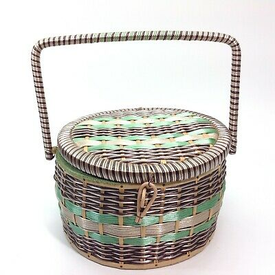 Vintage Retro Sewing Basket