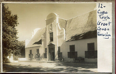 photo ancienne . Le Cap . Cape Town .Groot Constancia. vins . Wines . 1931