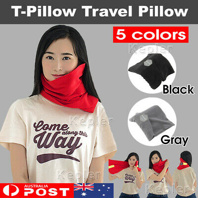 Soft Portable T-Pillow Comfortable Travel Pillow Proven Neck Support Sitting Nap