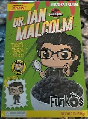 Funko Pocket Pop Cereal Dr Ian Malcolm Jurassic Park Hot Topic Exclusive In Hand
