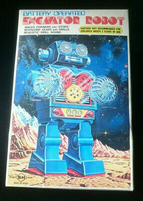 S.H. Horikawa Japan Excavator Robot Roboter boxed mint condition