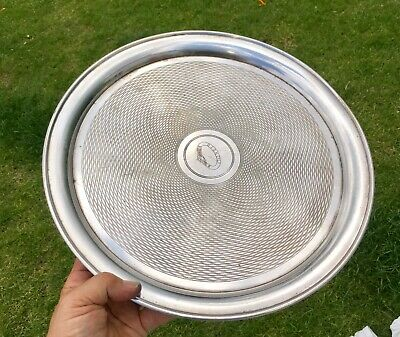 """Vintage 14"""" British India Steam Navigation Co Silver Plated Serving Tray"""