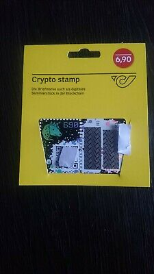 RARE - 1xCrypto Stamp - Green Edition (40k limited) / first crypto stamp edition