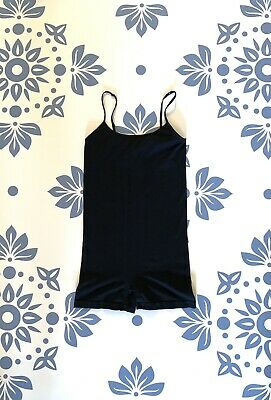 💕Free People Black Seamless Romper Size Small Great for Layering Very Versatile