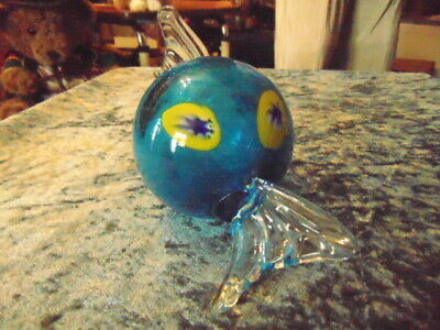 Coloured Glass Ball no flat surface so not a paper weight Pretty but rolls