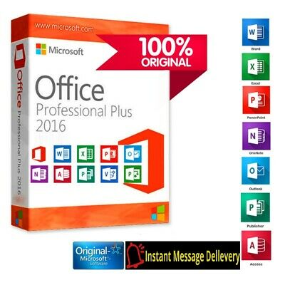 Microsoft Office 2016 Professional Plus Lifetime License Instant Dellevery