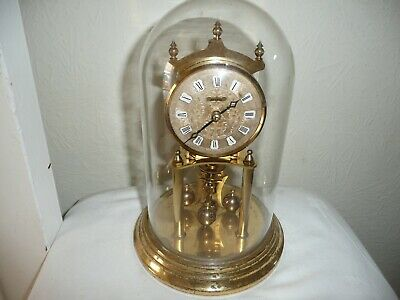 Kundo Anniversary Clock in Glass Dome, Miniature Movement. For Restoration.