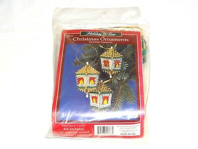Holiday Time Sulyn Victorian Lanterns Christmas Ornament Craft Kit Sequins USA