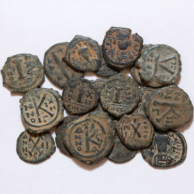 Top Lot Of 20 Uncertain Byzantine Bronze Coins