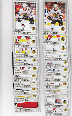 18/19 OPC Chicago Blackhawks Team Set w/RCs and Inserts - Kane Sikura RC +