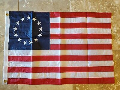 Us Betsy Ross Flag Us Original Stars American All Embroidered Stars Sewn Stripes