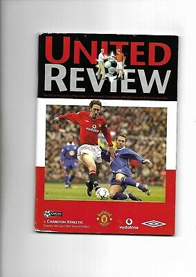 MANCHESTER UNITED V CHARLTON ATHLETIC 10/04/2001 PREMIERSHIP (d)