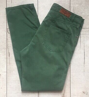 """HACKETT Men's Forest Green Slim Jeans Chinos Trousers Cotton EUC 32  X 32"""""""