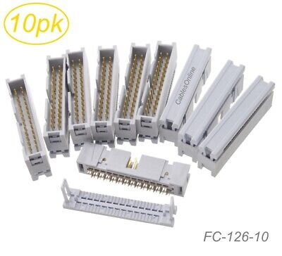 10-Pack 26-Pin Male IDC Flat Ribbon Cable Box Header 2.54mm Pitch Connectors
