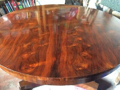 Antique Dining Rosewood tilt top Round Table
