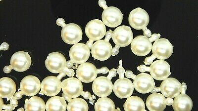 """Snap Beads 100-White 6mm 100 Blue 6.5mm- 30"""" Blue Necklace 30"""" (CHOOSE)#2330"""
