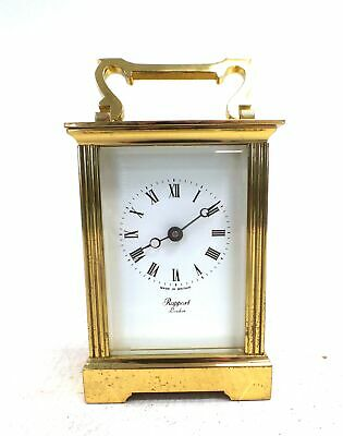 Vintage Style RAPPORT LONDON Wind Up BRASS CARRIAGE CLOCK - C87