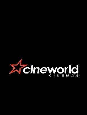 Cineworld cinema tickets ANY DAY Adult Kids - INSTANT EMAIL DELIVERY