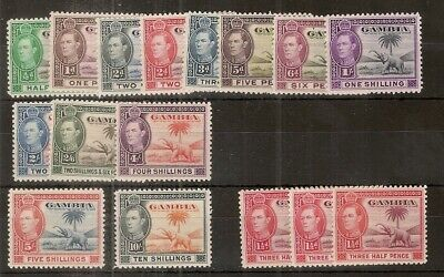 Gambia 1938 GVI Definitives Mint