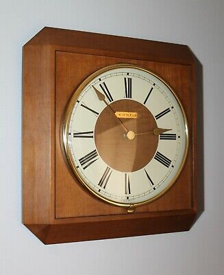 Vintage Kienzle Wall Clock Battery Operated Made In Germany